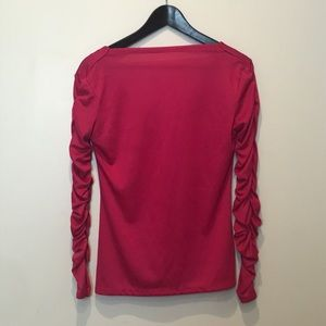 Vintage ruche sleeve top